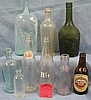Collection of vintage and antique bottles