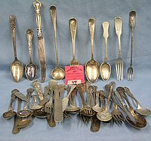 Box of vintage silver plated flatware