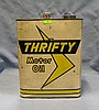 Thrifty motor oil can two gallon size