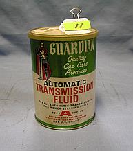 Vintage guardian transmission fluid can