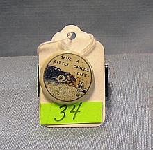 Antique automotive child safety button