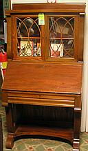 Antique walnut secretary bookcase