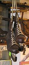 Pair of antique menâ??s ice skates