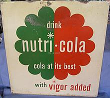 Antique Drink Nutri-Cola advertising store display sign