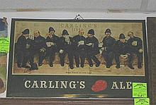 Antique Carlings Ale advertising store display sign