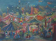 HELEN SAWYER (1900-1999), Circus, Mixed media
