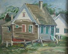 DAISY M. HUGHES (1882-1968), Old House, Provincetown, Oil