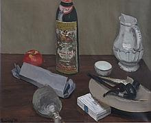 EDMUND QUINCY (1903-1997), Still Life with Pipes, Oil