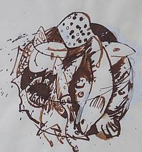 PAUL BOWEN, Bucket of Fish, 1988, Mixed media