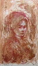 EDNA HIBEL (1917-2015), Female Portrait, Artist proof, Lithograph
