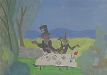DOROTHY LAKE GREGORY (1893-1970),  Mad Hatter's Tea Party, Gouache