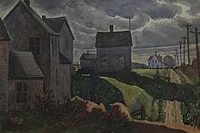 GRETA ALLEN (1881-?), Truro Houses, Watercolor