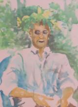 JOHN DOWD/MARK ADAMS (20c), Two Portraits, 1995, Watercolor