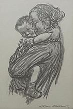 KATHE KOLLWITZ (1867-1945), Mother and Child, Lithograph