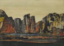 ELIZABETH E. POE (1888-1934), Landscape, 1936, Watercolor, unframed