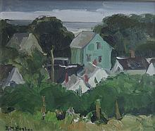 DAISY M. HUGHES (1882-1968), Provincetown, Mass, From Studio Hill, oil on board, framed