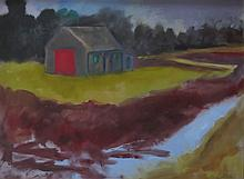 BETTY LANE (1907-1996), Around the Bog I, oil on board, framed