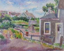 RUTH CUGAT 1898-1973), Provincetown, watercolor, framed