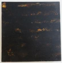 JIM BALLA (1956- ), Over Here, 1995, asphaltum & shellac on linen, unframed
