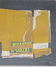 SERGE CHERMAYEFF (1900-1996), Homage to Senator McCarthy, 1962, collage, framed