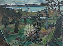 EVELIN BODFISH BOURNE (1892-1954), Buttermilk Bay, Buzzards Bay, oil on board, framed