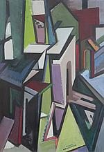 WILLIAM H. LITTLEFIELD (1902-1969), The City Gate, 1950, oil on board, framed