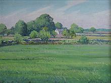HENRY H. BROOKS (1898-1981), Summer Landscape, oil on board, framed