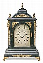 English 'bracket' table clock with case in ebonized wood and gilt-bronze applications, first half of the 19th century Westminster/Cam