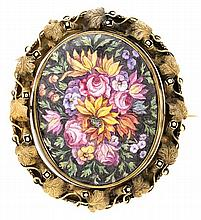 A gold and enamel brooch-pendant, from the 19th Century
