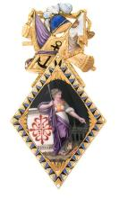 A badge of the Calatrava order, from the late 18th Century - early 19th Century Gold and
