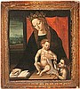 Hispano-Flemish school of the 16th Century Virgin with the Child and Young Saint John Oil on wood 33x29 cm