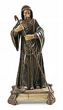18th Century Spanish school Saint Anthony Abbot A carved, gold-plated and polychromed wood sculpture