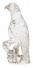 20th Century Chinese school Bird A carved rock crystal sculpture