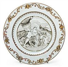 A Chinese Qianlong dish of the Indian Company, from the 18th Century