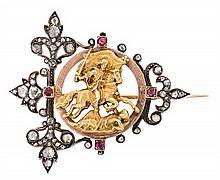 Mellerio jewellers, brooch badge, late 19th Century