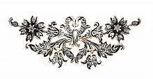 Elizabethan style floral brooch