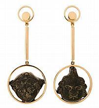 Arqueojoya jewellery, long earrings