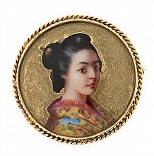 Japanese style brooch, early 20th Century
