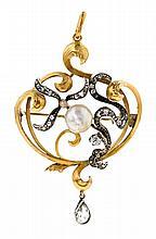 Diamond brooch pendant, early 20th Century
