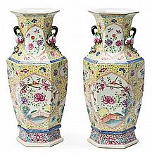 Pair of Chinese porcelain vases, second third 20th Century