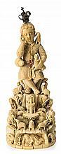 Indo-Portuguese School of Goa, first half 17th Century  Christ Child as the Good Shepherd