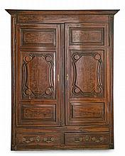 Catalan walnut and filleted in boxwood wardrobe, mid-18th Century