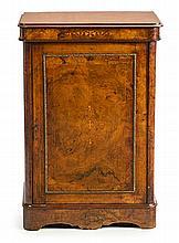 Victorian walnut music cabinet, late 19th Century