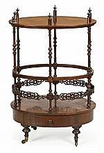 Victorian turned mahogany music cabinet, late 19th Century