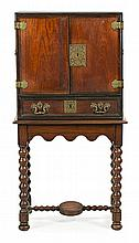 William and Mary style mahogany, ebony, rosewood chest with gilded bronze applications, early 20th Century