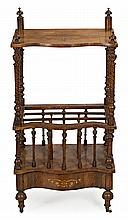 Victorian style mahogany music cabinet with satinwood inlaid, early 20th Century