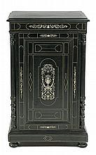 Milanese Renaissance style ebony dresser with engraved and inked ivory inlaid, late 19th Century