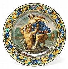 Italian porcelain plate, first third 20th Century