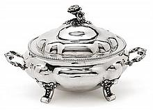 Probably French silver tureen, late 19th Century