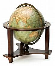 French library Globe Girard et Barrère from Paris in